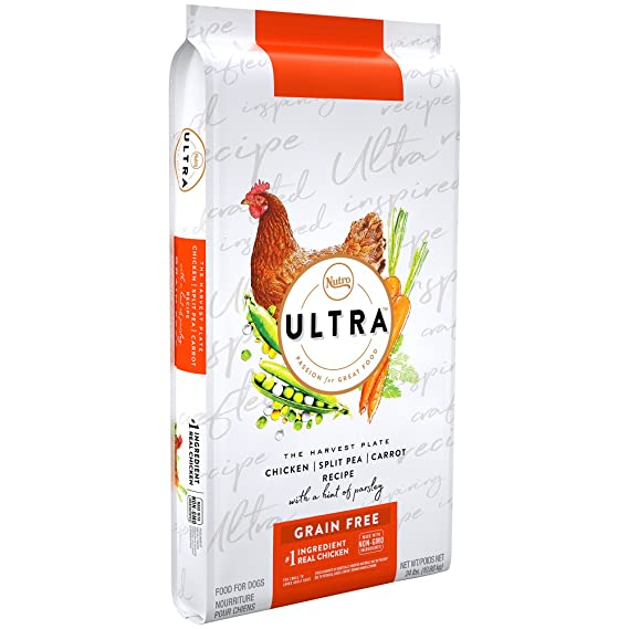 Amazon.com: Nutro Ultra Grain Free Adult Dry Dog Food Chicken, Split Pea And Carrot Recipe With A Hint Of Parsley, 24 Lb. Bag: Pet Supplies