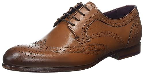 Ted Baker Granet, Zapatos de Cordones Brogue para Hombre, Marrón (Tan), 42 EU