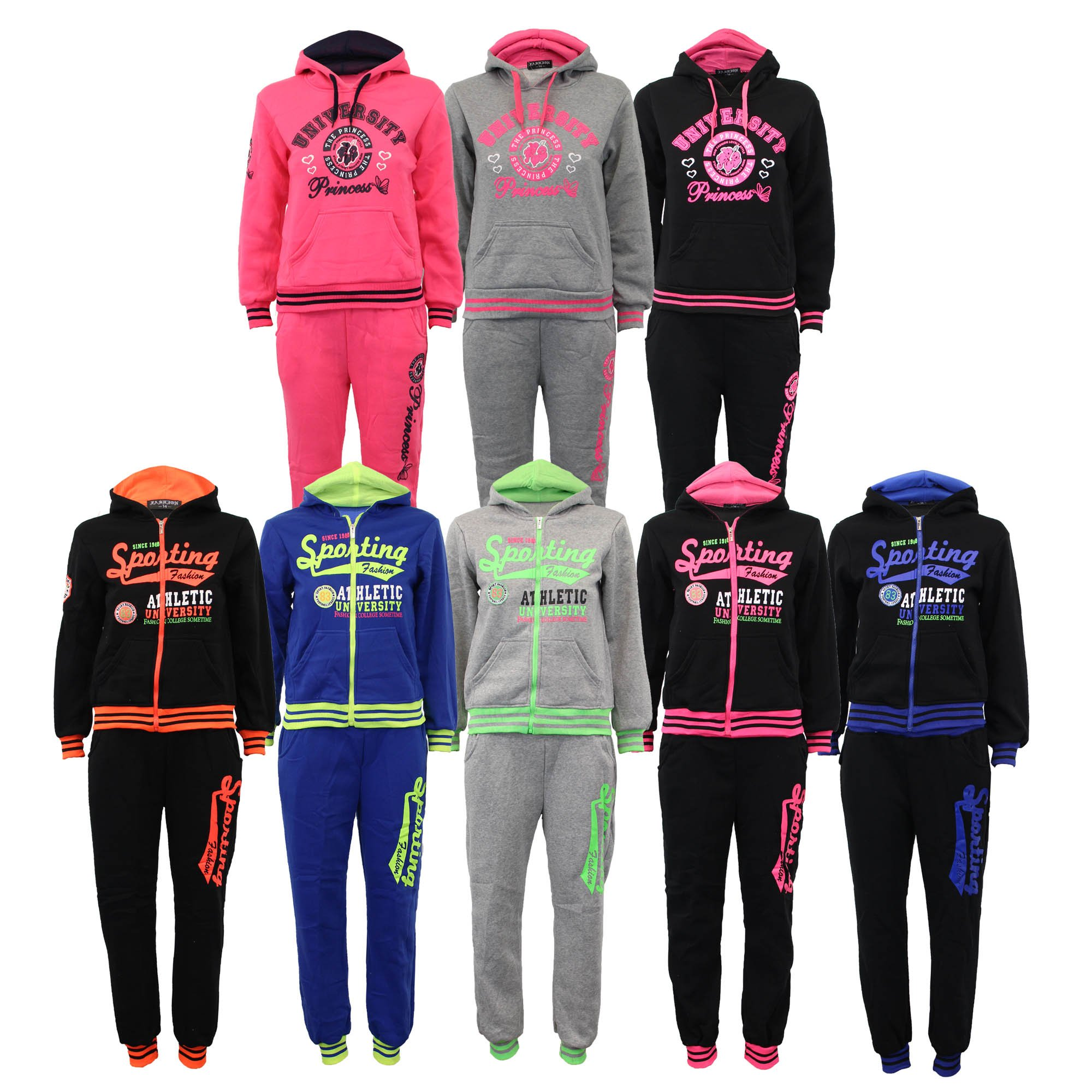 Boys' Tracksuit C73 Black/Fuchsia Size 14 10/11 Years by Unknown (Image #4)