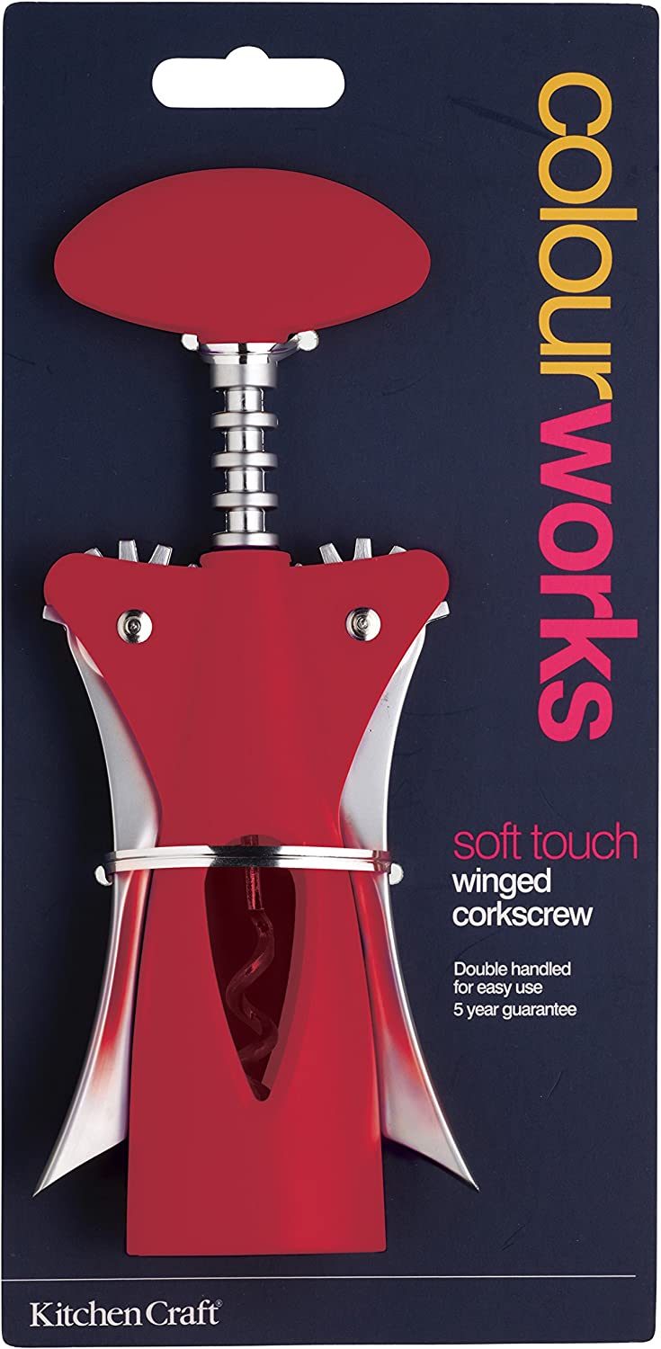 Kitchen Craft Colourworks Red Winged Corkscrew