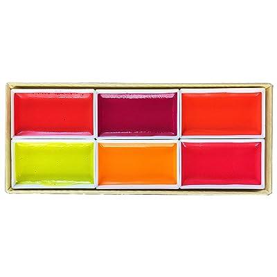 KISSHO GANSAI Japanese Watercolor Paint LUMI Accent 6 Colors Set: Toys & Games