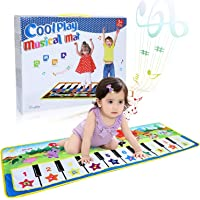 Music Piano Mat, SUPTEMPO Keyboard Playmat Kids Musical Mats Portable&Safe Musical Dance Mat Early Education Toys Gifts For Kids Toddler Girls Boys Christmas