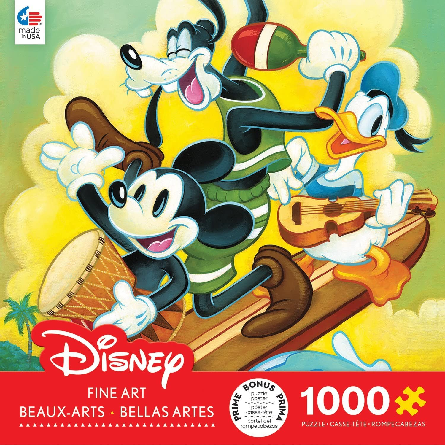 Amazon.com: Ceaco Disney Fine Art Surf Trio Jigsaw Puzzle ...