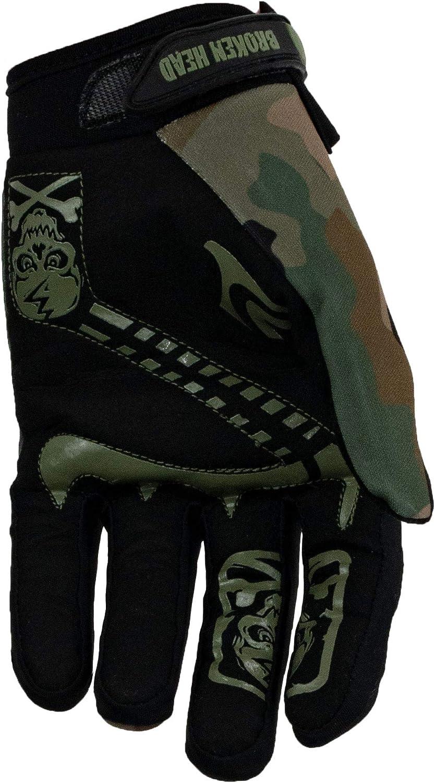 Broken Head Mx Handschuhe Rebelution Motorrad Handschuhe Für Motocross Enduro Mountainbike Camouflage Grün L Auto