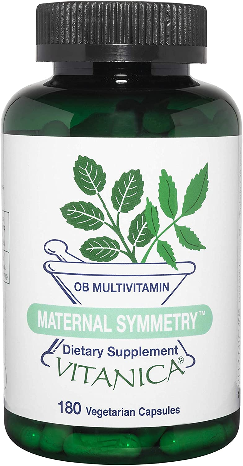 Vitanica Maternal Symmetry, OB Multivitamin, Vegan, 180 Capsules