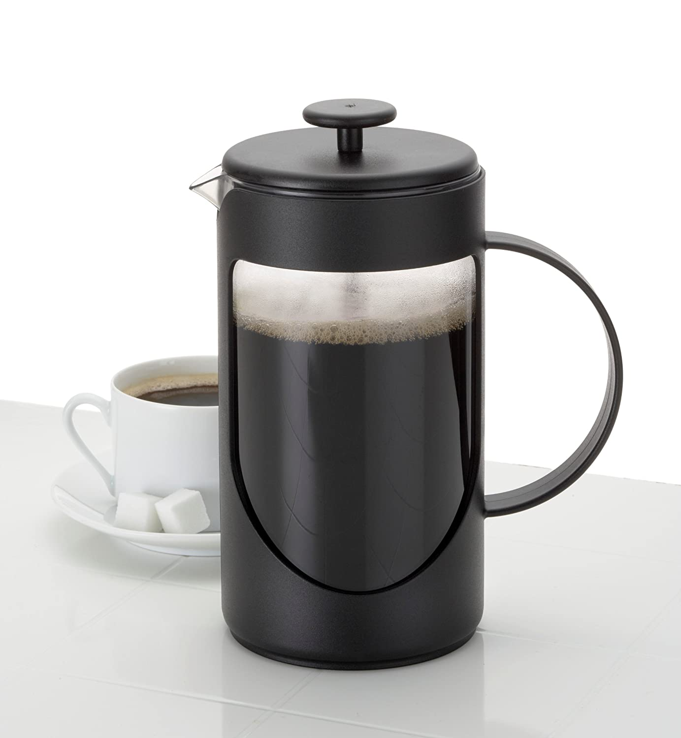 Bed bath beyond french press - Amazon Com Bonjour Coffee Unbreakable Plastic French Press 33 8 Ounce Ami Matin Tm Black Non Breakable French Press Kitchen Dining