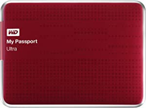 (Old Model) WD My Passport Ultra 2 TB Portable External USB 3.0 Hard Drive with Auto Backup, Red