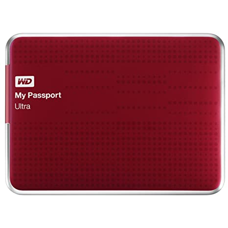 (Old Model) WD My Passport Ultra 2 TB Portable External USB 3 0 Hard Drive  with Auto Backup, Red