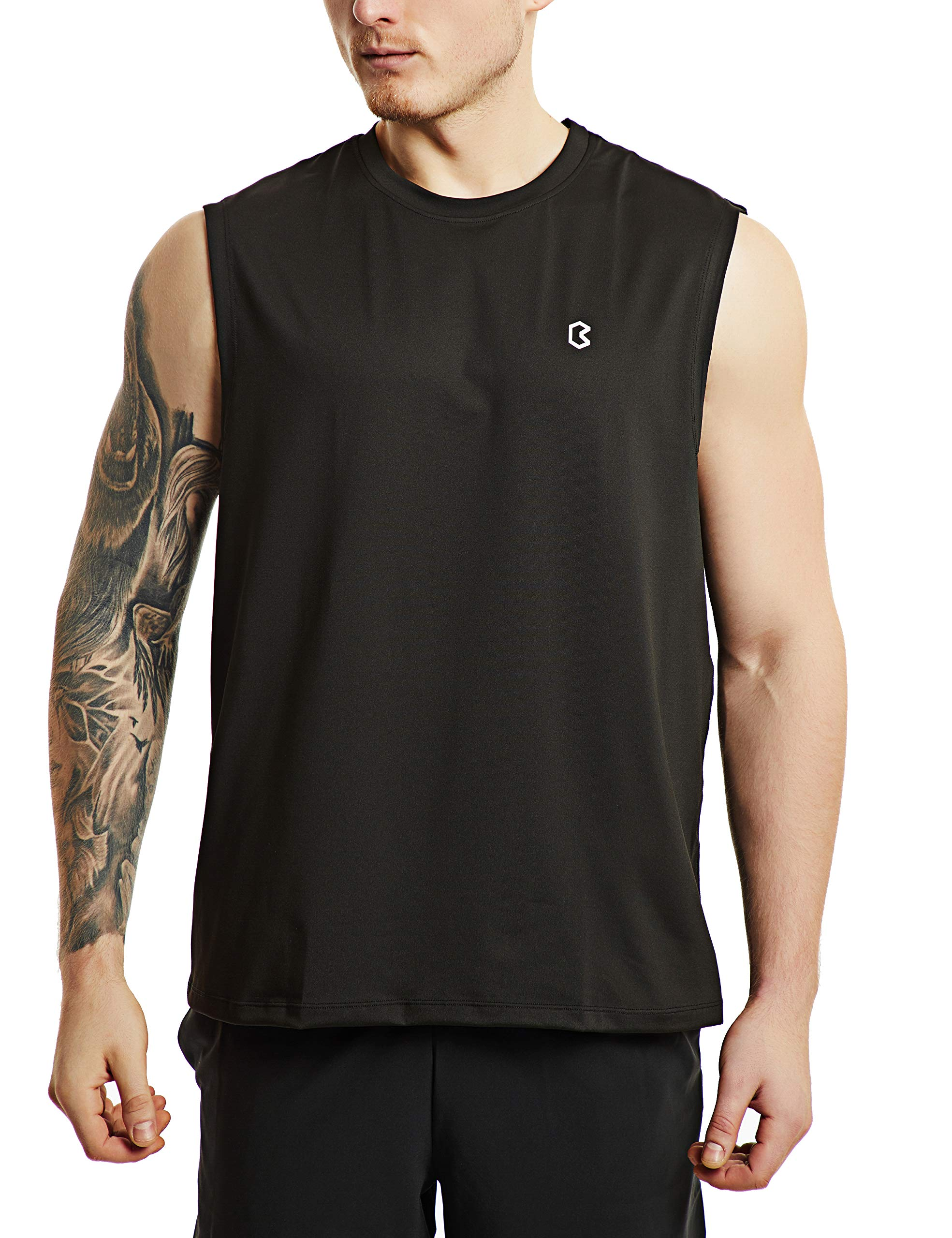 Bewinds Men' s Performance Quick-Dry Workout Sleeveless Shirts Muscle Bodybuilding Tank Top by Bewinds