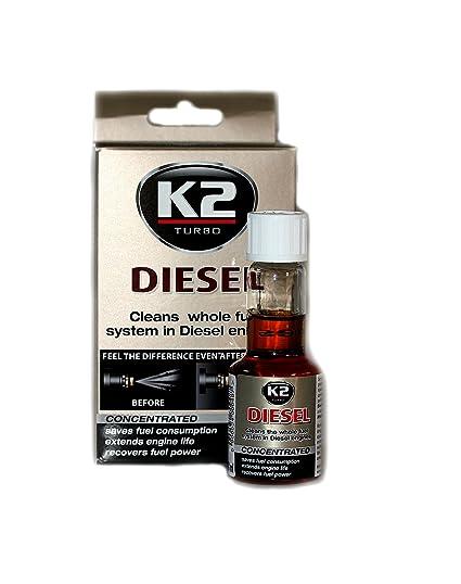 K2 Inyector Diesel Aditivo Concentrado Limpiador de Sistema de Combustible Motor Baja emisión 50 ML