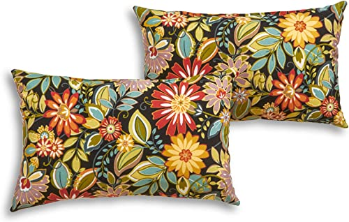 South Pine Porch AM5811S2-JUNGLE Jungle Floral Outdoor 19 x 12-inch Rectangle Accent Pillow