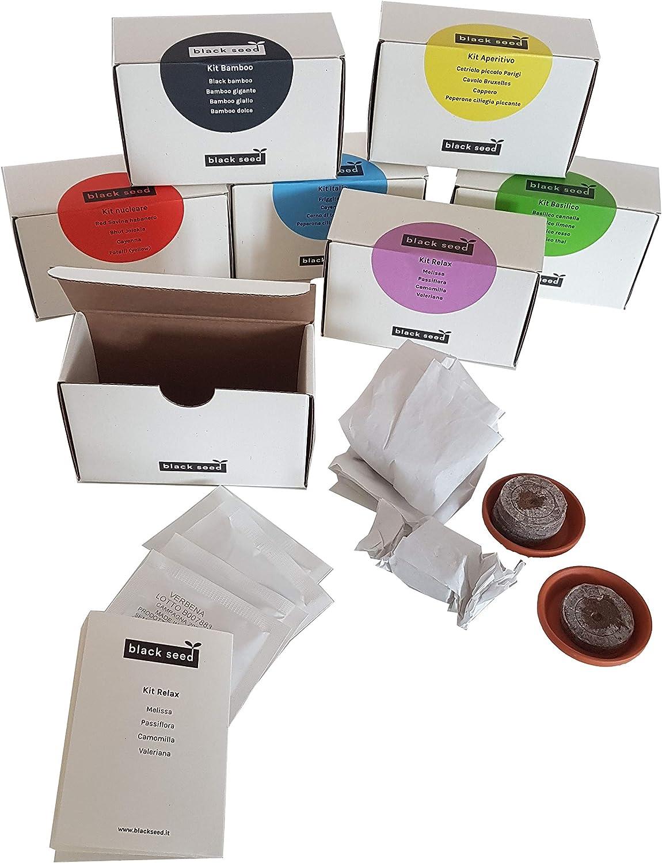 Fatalii Yellow Kit Nucleare Piment de Cayenna Kit de graines durables Bhut Jolokia Id/ée cadeau contenant 4 vari/ét/és Super Piccanti: Red Savina Habanero Ghost Pepper Black Seed