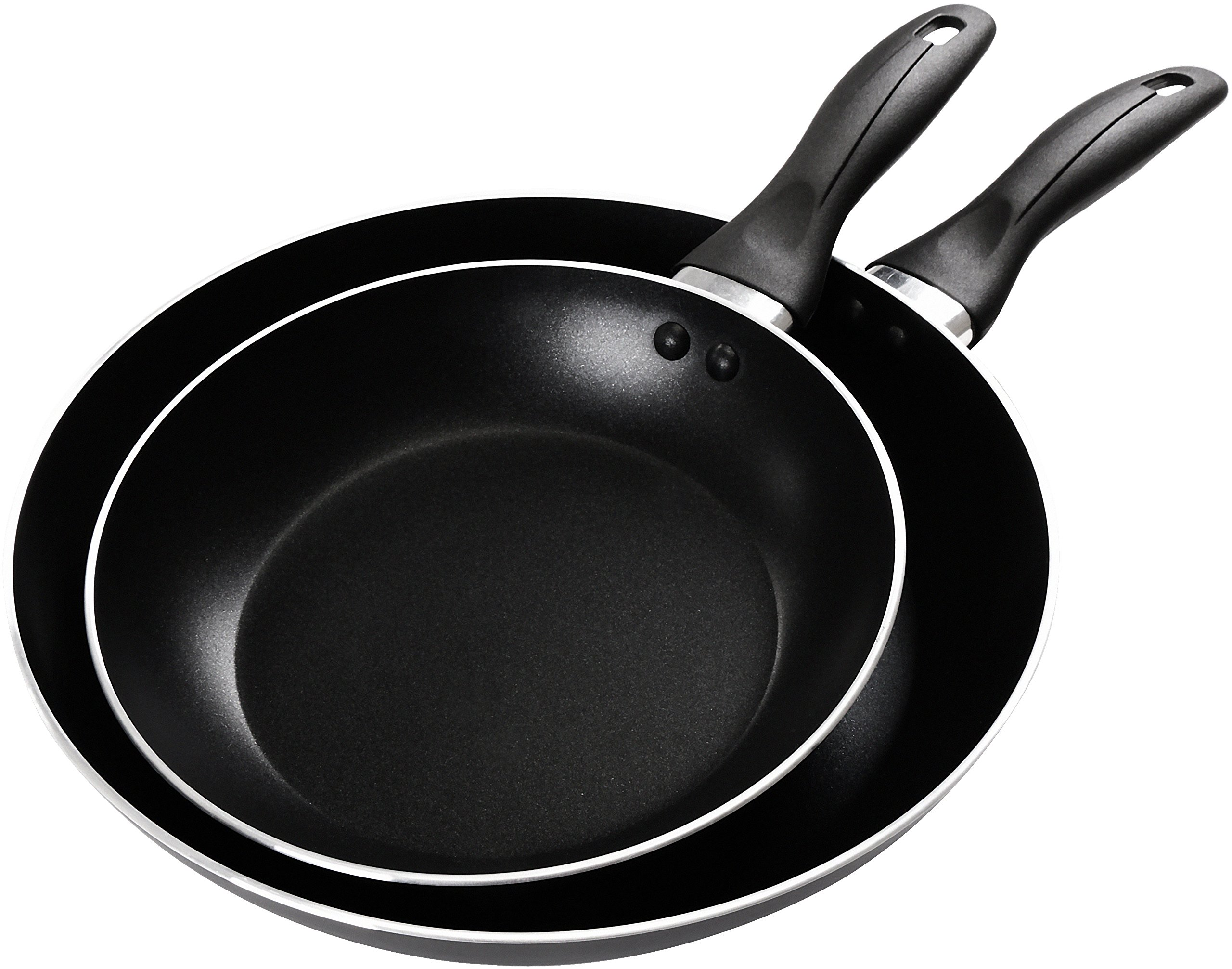 Utopia Kitchen 2 Piece Nonstick Frying Pans - 8 Inch and 10 Inch Dishwasher Safe Aluminium Cookware