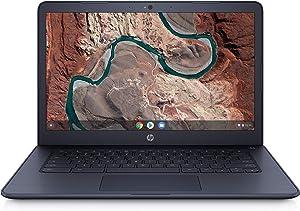 HP Chromebook 14-db0043wm - AMD A4-9120C, AMD Radeon R4 Graphics, 4 GB SDRM, 32GB eMMC, Audio by B&O, Full HD Display, Ink Blue (Renewed)