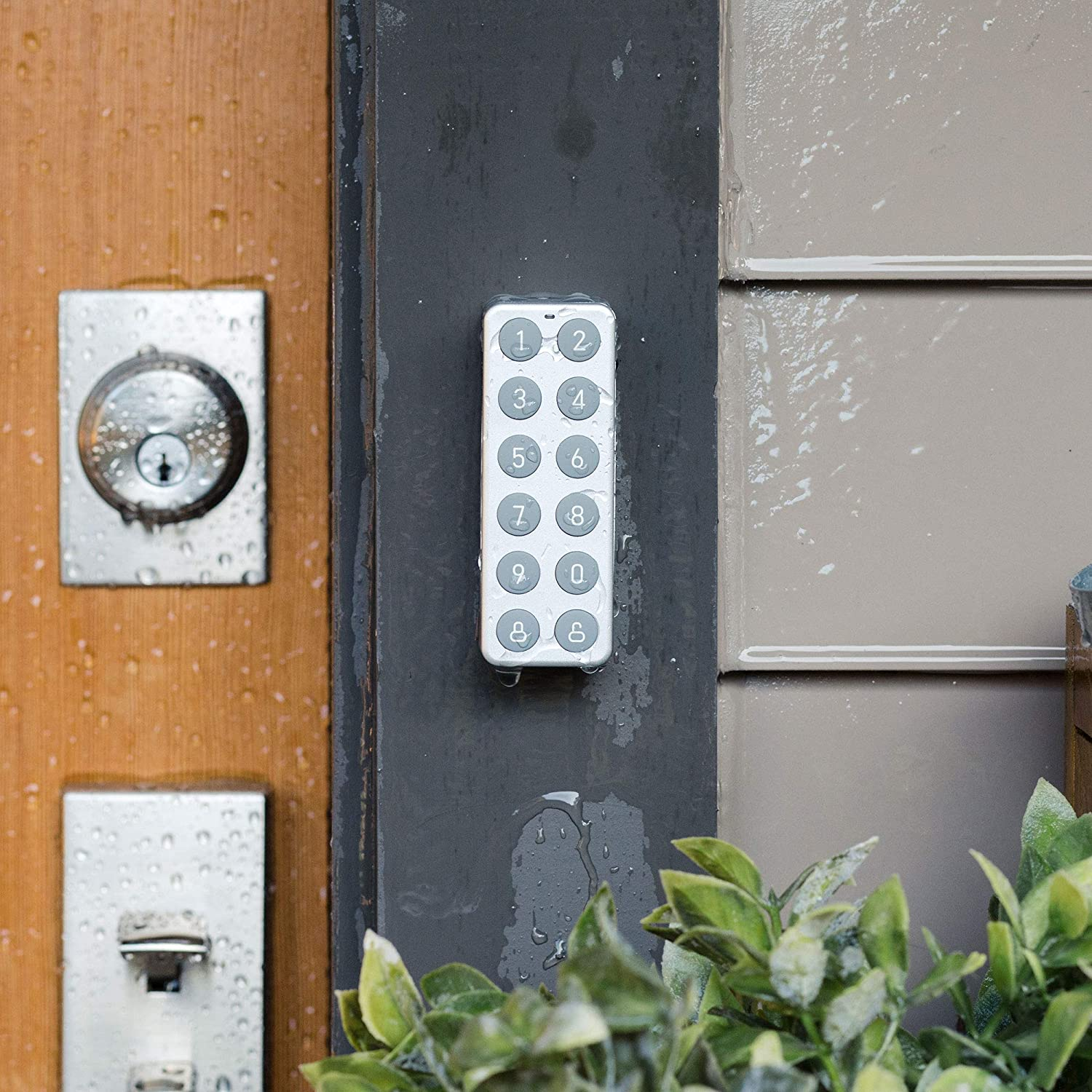 A Completely Wireless Bluetooth keypad That Allows You to Create and use Unique Codes to Unlock Your Wyze Lock Share Wyze Lock Sold Separately Wyze Lock Keypad for Wyze Lock