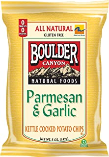 product image for Boulder Canyon Kettle Chips, Parmesan and Garlic, 5-Ounce Bags (Pack of 12)