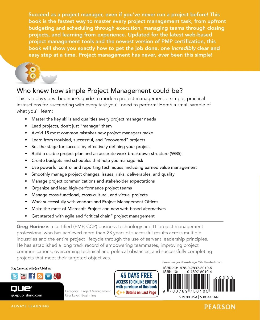 Amazon project management absolute beginners guide 3rd amazon project management absolute beginners guide 3rd edition 0029236750107 greg horine books xflitez Choice Image