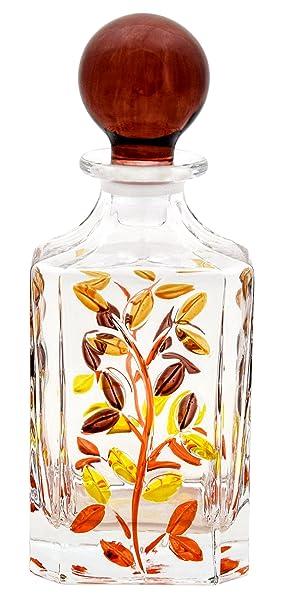 BOTTIGLIA LAURUS Botella Licor cristal Mano Colores pintadas Tradición Venecia