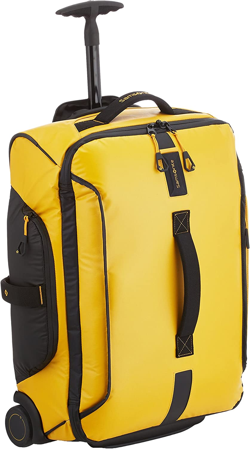 Samsonite Paradiver Light - Bolsa de viaje con ruedas, Amarillo (Yellow), S (55 cm - 48.5 L)