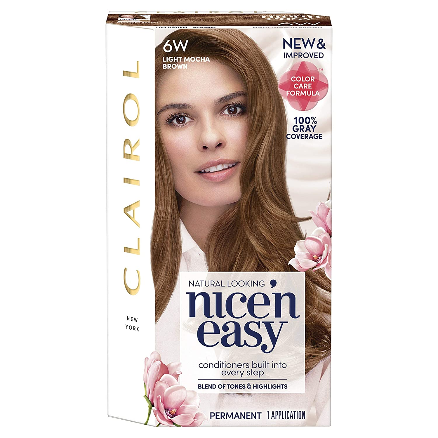 Amazon Com Clairol Nice N Easy Permanent Hair Color 6w Light Mocha Brown 1 Count Chemical Hair Dyes Beauty