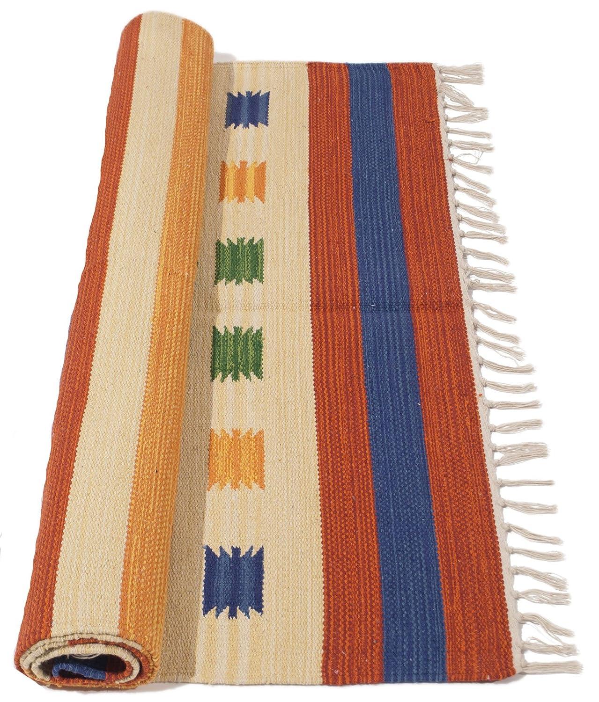 200x140 CM Original Autentic Kilim Hecho a Mano Coton Indian #GalleriaFarah1970 /…