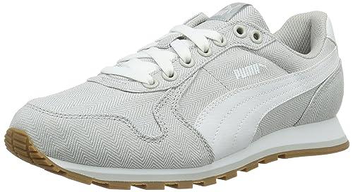 Puma St Runner Herringbone, Zapatillas Unisex Adulto, Gris (Gray Violet-Puma White 02), 44.5 EU