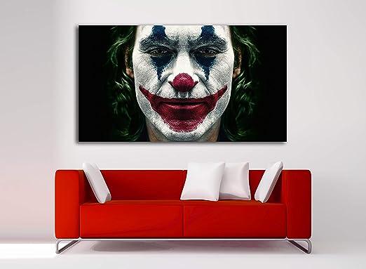 Cuadro Lienzo Joker Joaquin Phoenix - Lienzo de Tela Bastidor de Madera de 3 cm - Fabricado en España - Impresión en Alta resolución – Varias Medidas (80, 44): Amazon.es: Hogar