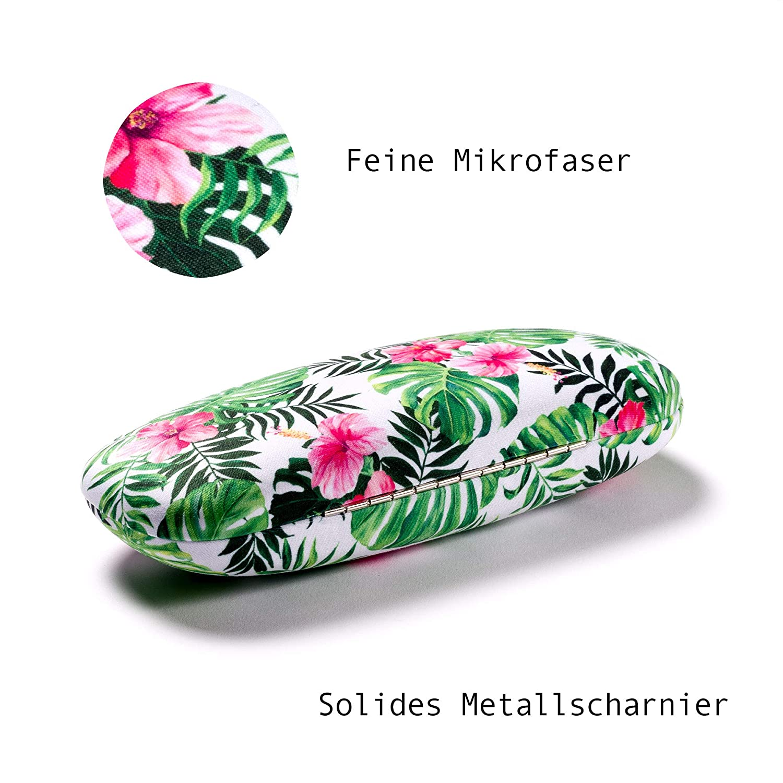 mit passendem Mikrofasertuch Leaf FEFI Hardcase Brillenetui