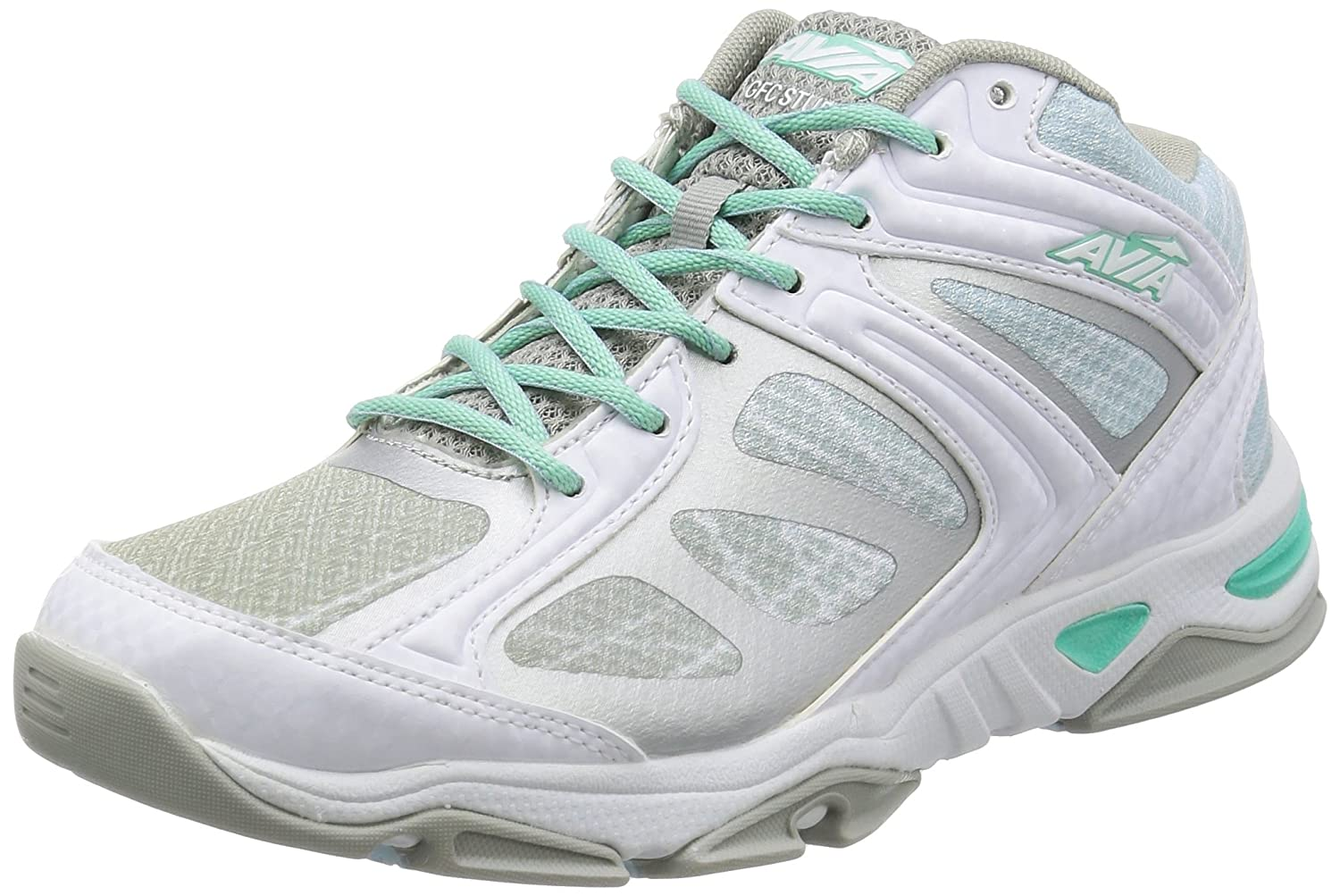 Avia Women's Gfc Studio Cross-Trainer Shoe B01A85ZK38 8.5 B(M) US|White/Silver/Lt Blue