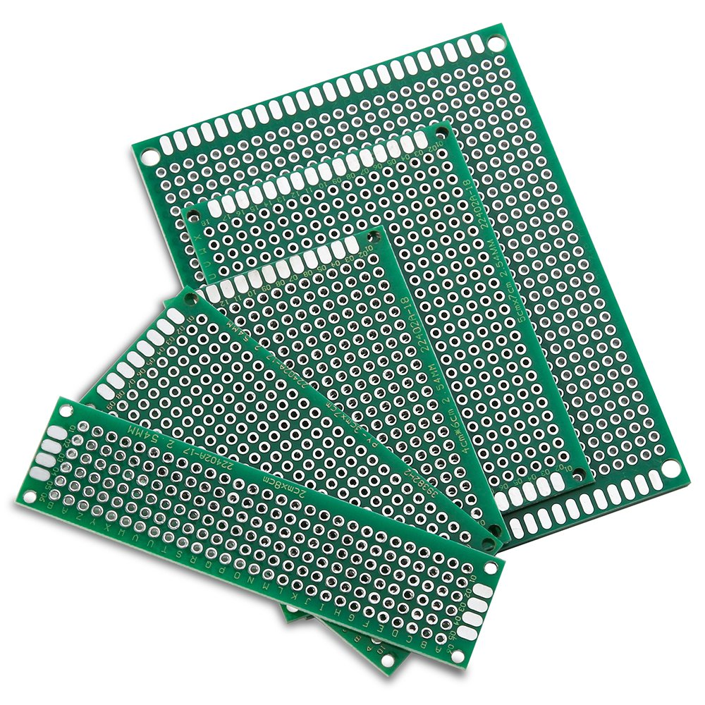 Elegoo 32 Pcs Double Sided Pcb Board Prototype Kit For Diy Soldering Printed Circuit 01 With 5 Sizes Compatible Arduino Kits Industrial Scientific