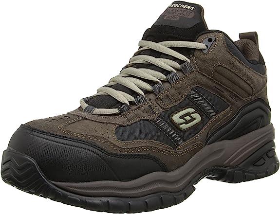 Skechers for Work Men's Soft Stride Canopy Slip Resistant Work Boot