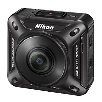 4a2eb7279022ee Amazon.com   Nikon Waterproof Wearable Camera Key Mission 360 BK Black 4K  Wifi KeyMission From Japan   Camera   Photo