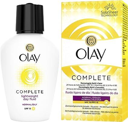 Olay Complete 3 en 1 Fluido hidratante ligero de día con SPF15 ...