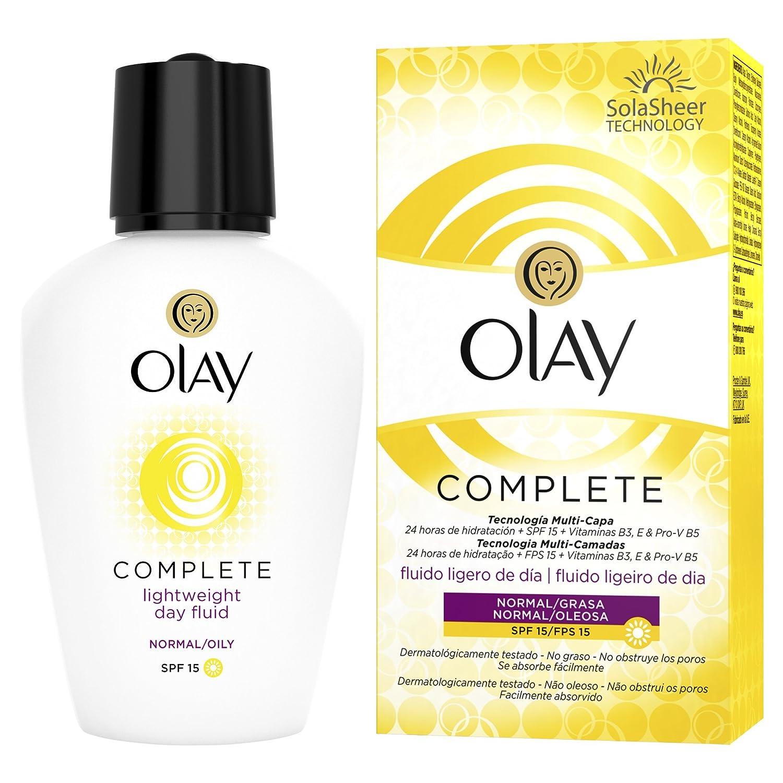 Olay Complete 3 en 1 Fluido hidratante ligero de día con SPF15 (pieles normales/grasas) - 100 ml: Amazon.es: Belleza