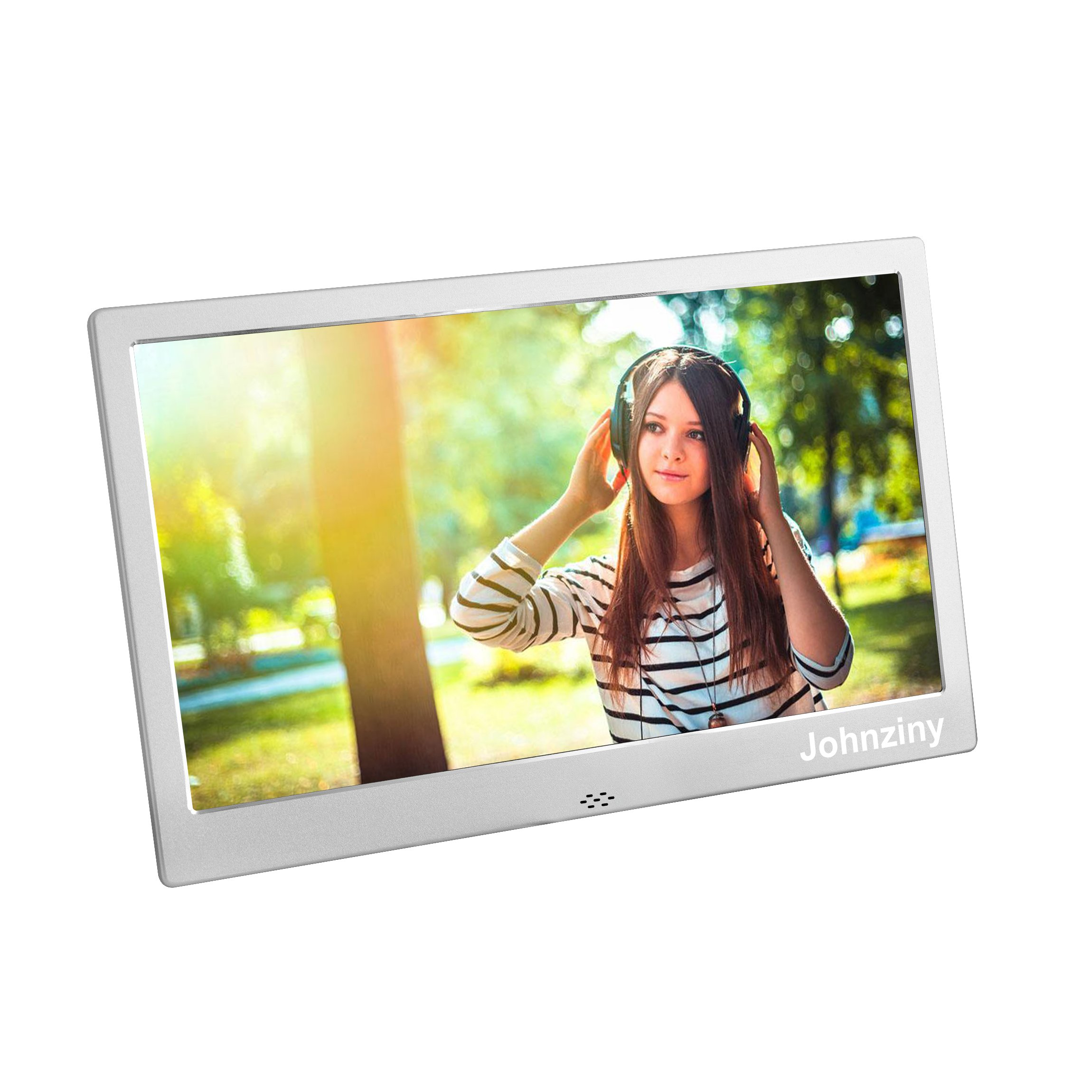10 Inch Digital Photo Frame- Metal Electronic Picture Frame with 1024x600 High Resolution Display & Remote Controller Support SD/MMC /MS Card/USB Port
