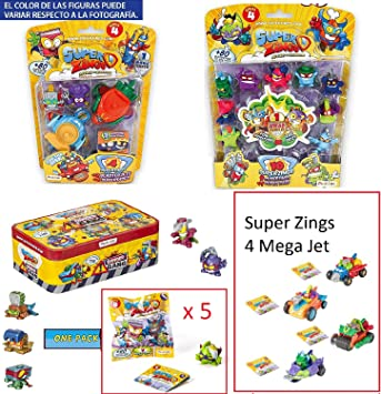 SuperZings Serie 4 - Set 12 Pcs(Blíster Pack 10, BlasterJet ...