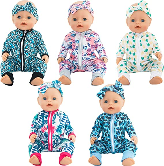 SOTOGO 5 Outfit Set – Sleepwear With Matching Headbands