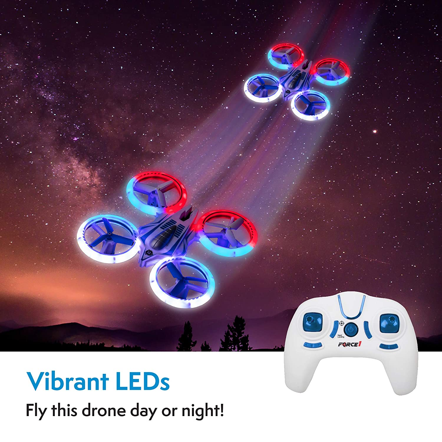 UFO 4000 LED Mini Drone for Kids or Beginners Small Micro Indoor RC Drone Quadcopter Toy Gifts for Teen Boys or Girls UFO Mini Drones for Kids