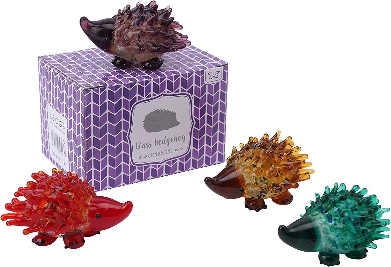 Glass Hedgehog in Gift Box One Selected at random One supplied