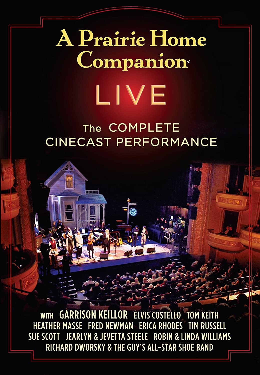 Amazon.com: A Prairie Home Companion Live: The Complete Cinecast  Performance: Garrison Keillor: Movies & TV