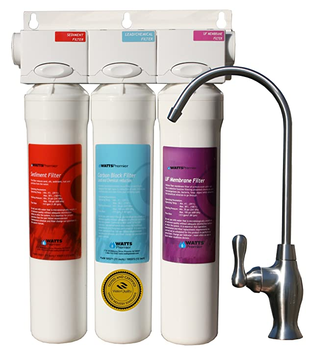Watts Premier 531130 Filter-Pure UF-3 3-Stage Water Filtration ...