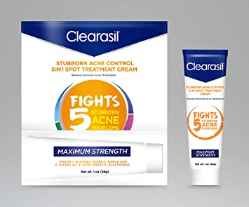 Amazon Com Clearasil Stubborn Acne Control 5in1 Spot Treatment