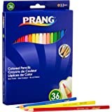 "Prang Thick Core Colored Pencil Set, 3.3 Millimeter Cores, 7"" Length, Assorted Colors, 36-Pack (22360), Multicolored"