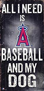 MLB Los Angeles Angels Unisex Los Angeles Angels Baseball and My Dog Sign, Team Color, 6 x 12