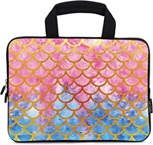 11 11.6 12 12.2 Inch Laptop Sleeve Carrying Bag Protective Case Neoprene Sleeve Tote Tablet Cover Notebook Briefcase Bag with Handle for Women Men (11-12.2 inch, Mermaid)