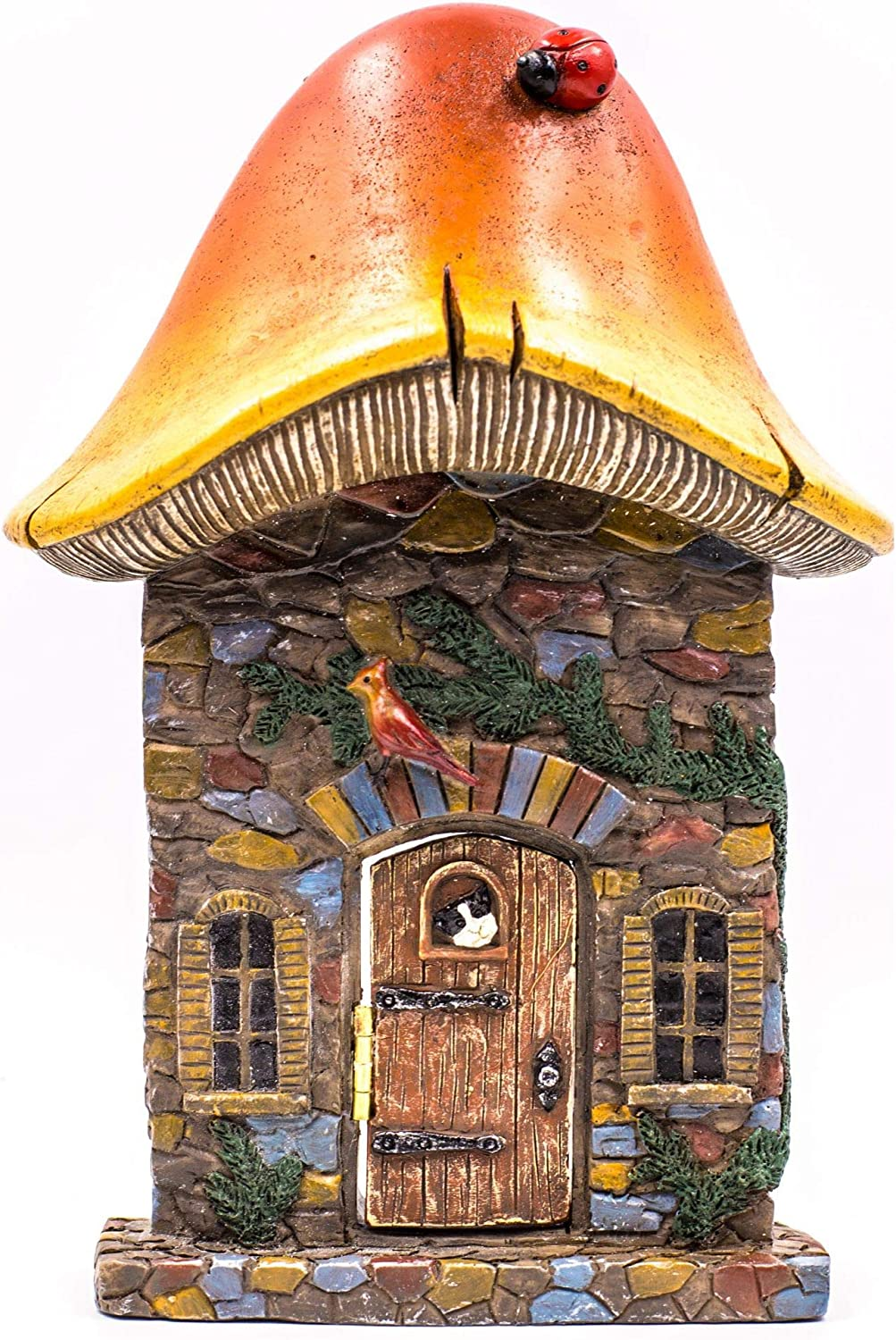 Miniature Fairy Garden Houses, Fairies, Figurines, Animals, Kits, Furniture, and Supplies (Mushroom Fairy Door)