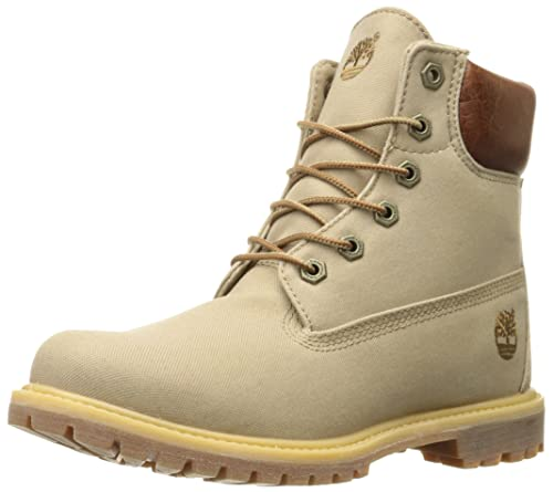 7d889c7c44546 Timberland Women s 6 Inch Premium Fabric Boot Tan Waxed Canvas 11 B(M) US:  Buy Online at Low Prices in India - Amazon.in
