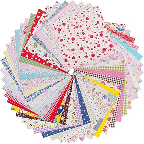 68 5 Inch Bright Sprinkles Quilt Fabric Squares