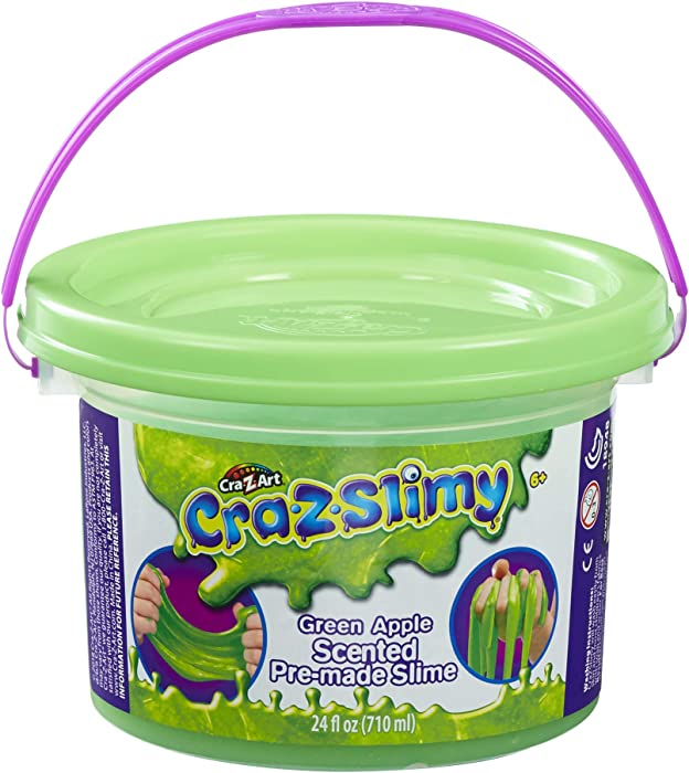 Cra-Z-Slimy Green Apples Scented Pre-Made Slime Slimy Goop, Large 24 oz tub!