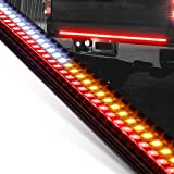 "49"" LED Tailgate Light Bar for Trucks [Rigid Aluminium Frame] [Amber Sequential Turn Signal] [Tail & Reverse Light] [IP66 Wat"